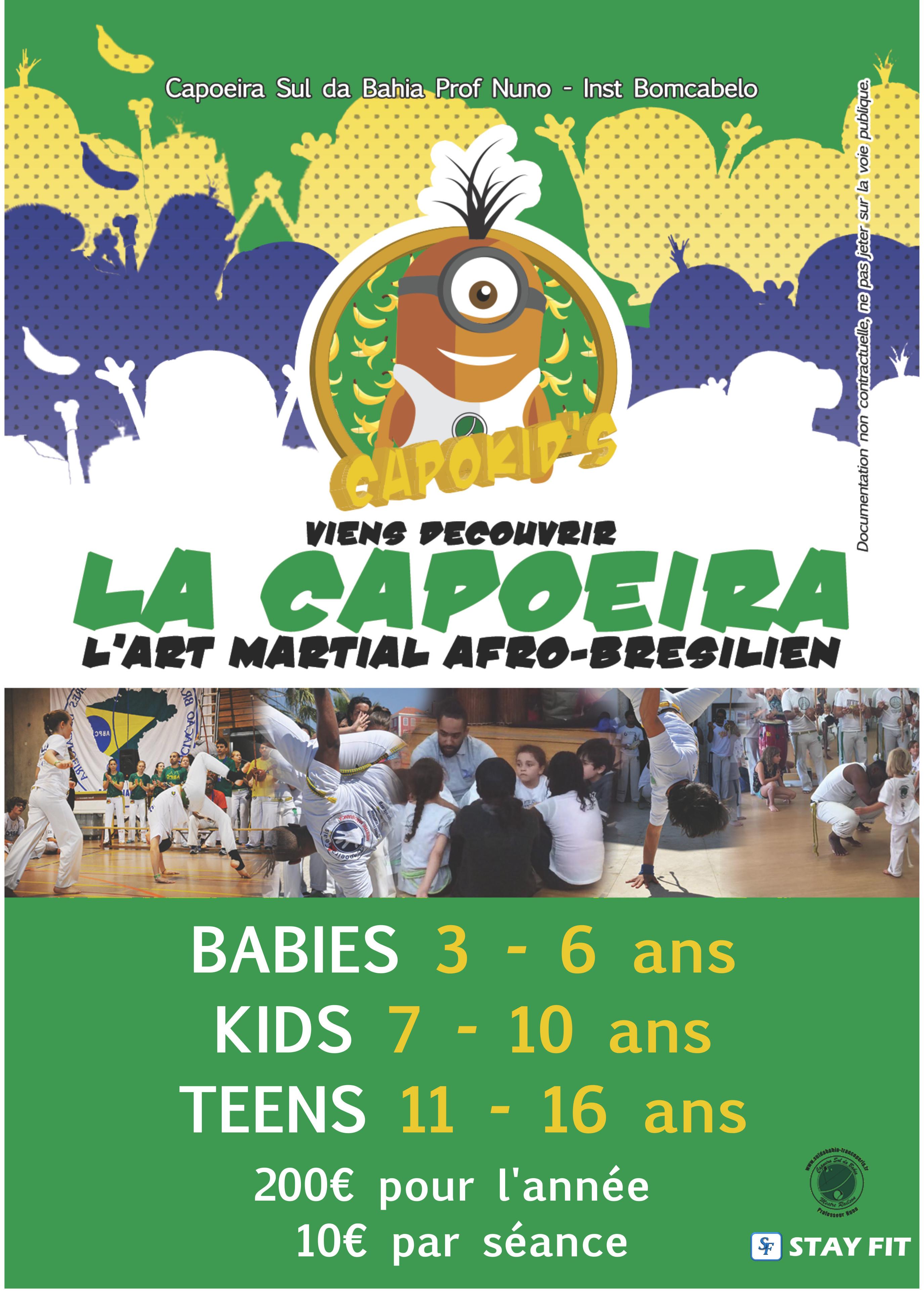 Capoeira cours enfants Bourg la Reine