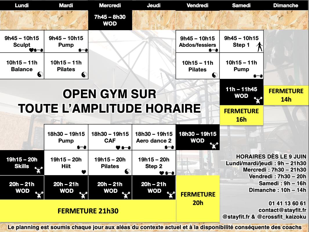Planning fitness pilates crossfit à bourg la reine, sceaux