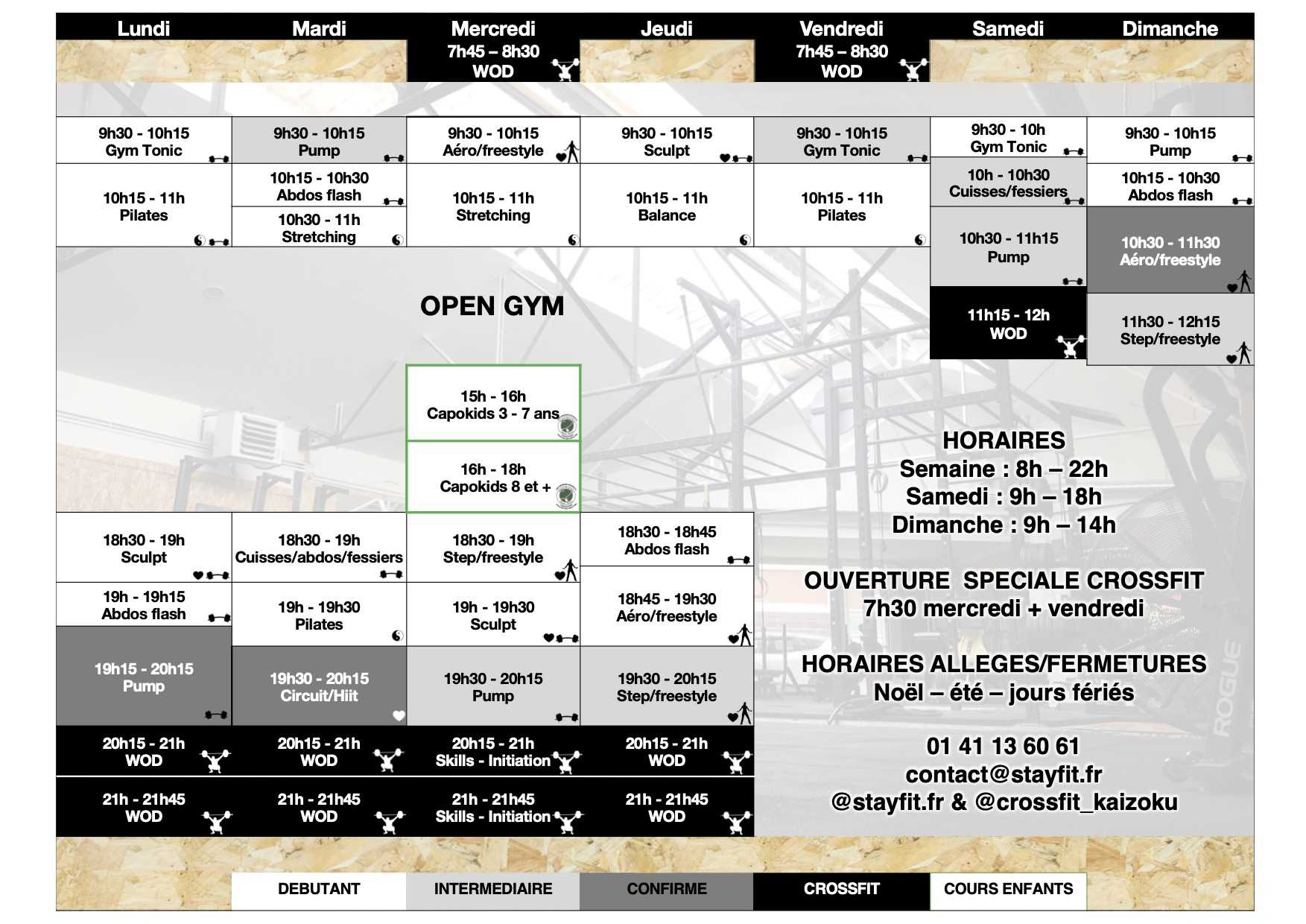 Planning StayFit CrossFit Kaizoku