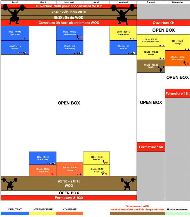 Planning juillet fitness bourg-la-reine