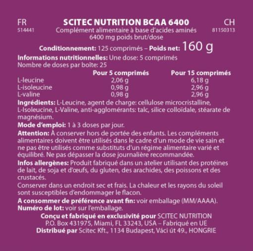 BCAA 6400 - SCITEC
